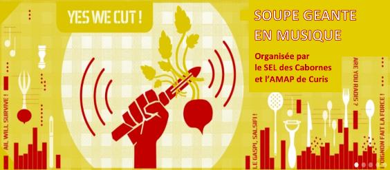 Yes We Cut : Soupe géante en musique le samedi 22 octobre